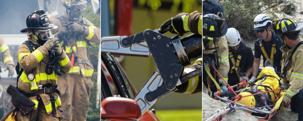 pictures of firefighters working